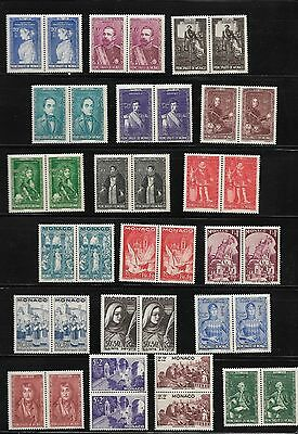 Mint Monaco Stamps in Pairs