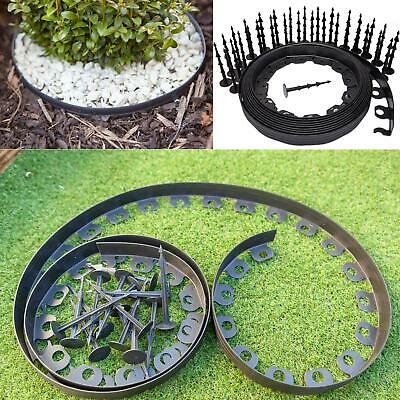 Flexible Garden Lawn Grass Edge,  Plastic Border Wall, Long 10 M + 30 Pegs