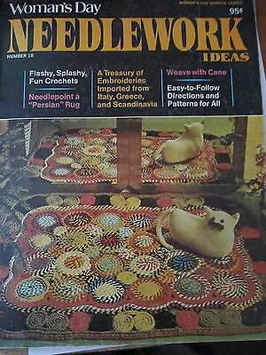 NEEDLWORK IDEAS...Magazine by Womans Day ....1974 ..No 18
