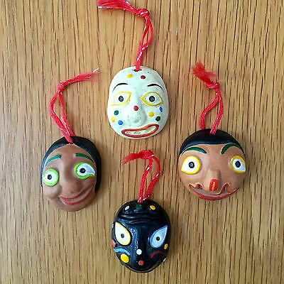Small Colorful Korean Masks (4) for hanging