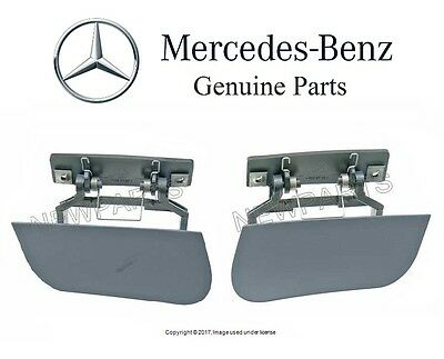 Mercedes W220 S430 S500 Pair Set of Two Headlight Washer Cylinder Covers Genuine