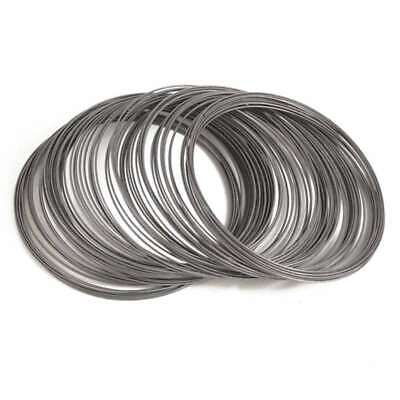 100 Loops 0.6mm Steel Bracelet Memory Wire For DIY Cuff Bangle Making Gunmetal