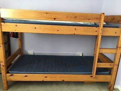 Solid Wooden adult bank bed from Daniel store pine colour, comes with matrices