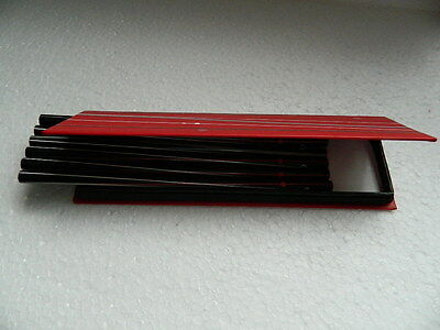 """(A1.10) Set Of Six Pencils (Unsharpened) In Red/Black Gift Box """"Special Offer"""""""