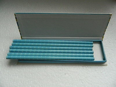 """(A1.11) Set Of Six Pencils (Unsharpened) In Yellow/Blue Gift Box """"Special Offer"""""""