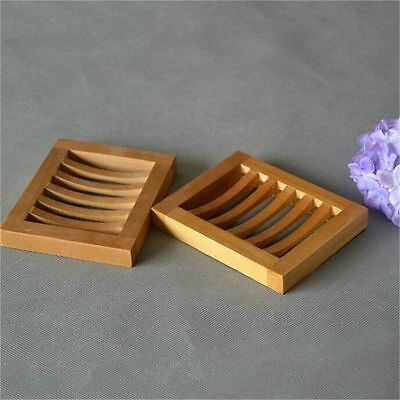 Wood Kitchen Bathroom Container Shower Bath Plate Holder Deco Soap Dish Home