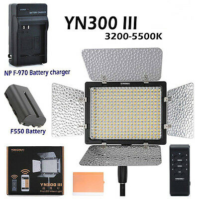 Yongnuo YN 300 III Pro 3200-5500K LED Video Light For Studio DV DSLR Camera