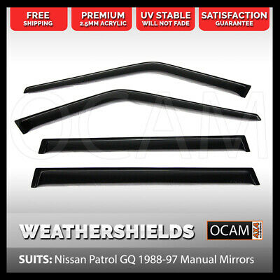 OCAM Weathershields For Nissan Patrol GQ 88-97 Manual Mirrors Maverick Visors