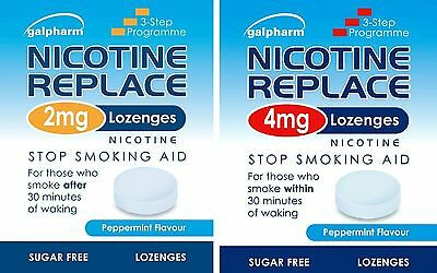 Nicotine Replace 2mg/ 4mg Lozenges Galpharm Peppermint Flavour Stop Smoking Aid