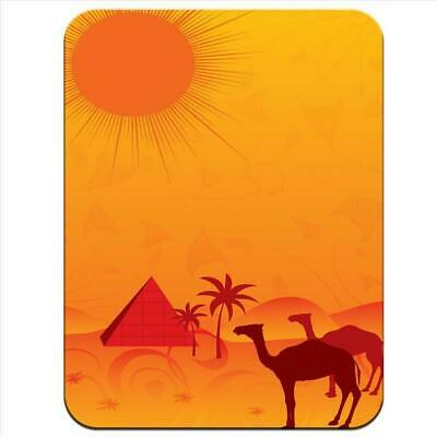 Egyptian Pyramids, Camels In Desert Sun Thick Rubber Mouse Mat