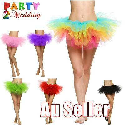 Organza Tutu Adult Teen 5 Layers tulle Mini Skirt Pettiskirt Women Party Costume