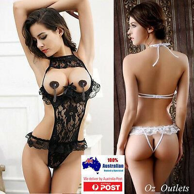 One Piece Women Lace Dress Hot Sexy Erotic Lingerie Nightwear Underwear #15