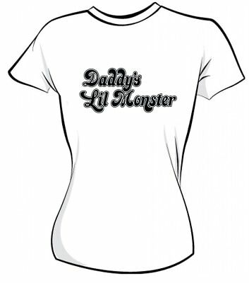 Daddy's Lil Monster Iron On T Shirt Transfer