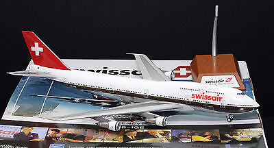 "Swissair B-747-300 (HB-IGE) ""Genève"", 1:200, Inflight200! With stand"