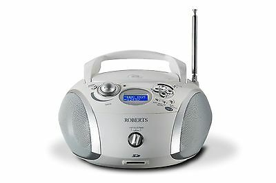 Roberts Zoombox2 in white DAB/DAB+/FM RDS/CD player with SD and USB