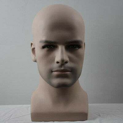 Realistic Fiberglass Male Mannequin Dummy Head for Hat Wig Sunglasses Display