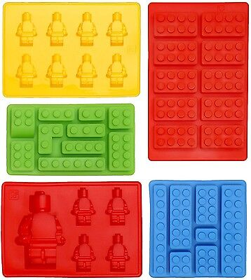 Lego Shaped Ice Cube Tray Silicone Moulds, Candy Moulds, Chocolate Moulds