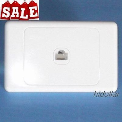 Phone Outlet Point Socket Wall Plate Telephone Socket Rj11 Gloss White Cat3