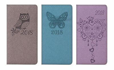 2018 Slim Diary Week To View Diary Christmas Gift Present Fashion design pocket