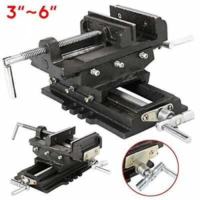 3 4 5 6 inch Cross Slide Vise Wide Drill Press X - Y Clamp Milling 2 Way HD OYAS