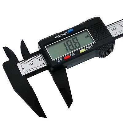 Digital Electronic Carbon Fiber Vernier Caliper Lcd 150mm Gauge Micrometer 6inch