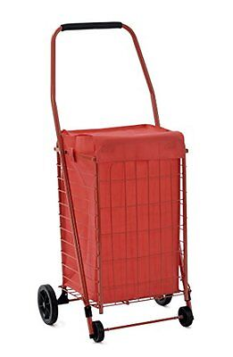 New Grocery Shopping Cart Liner With Wheels Trolley Bag Easy Folding Metal Large