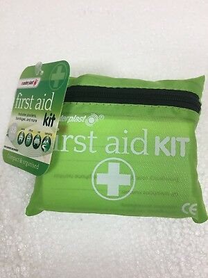 Travel Mini First 1st Aid Kit 38 piece - Holiday/Camping/Car/Home