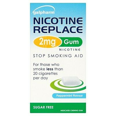Galpharm Nicotine Replace 2mg Gum Stop Smoking Aid Replace all your Cigarettes
