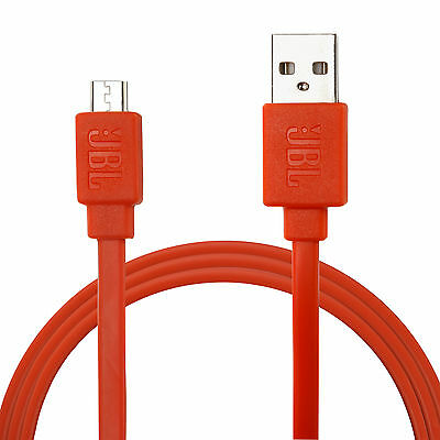 2 Pack: JBL Extra Durable 3ft 2 in 1 Sync & Charge Micro USB Data Cable in Orang