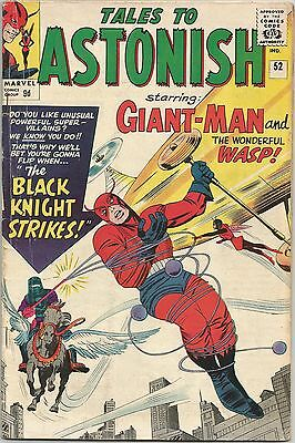 Tales To Astonish #52. Marvel Feb 1964. 1st Appearance Black Knight. VG+/FN-