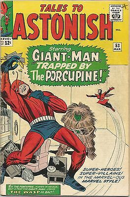 Tales To Astonish #53. Marvel Mar 1964. Ant-Man/Giant-Man. Wasp. VG+/FN-