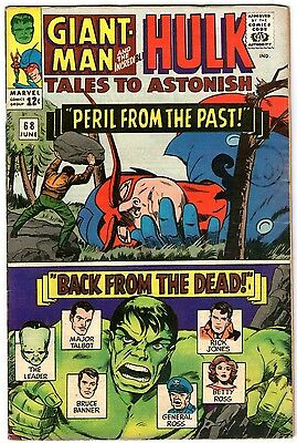 Tales To Astonish #68. Marvel Jun 1965. Ant-Man/Giant-Man. Wasp. Hulk. FN