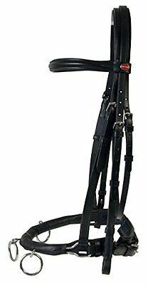 Cavesson Riding Leather Lunge Cavesson Headcollar Black For Lunging and riding,