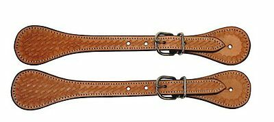 Kerbl 32933 Pair of Western Spur Straps Leather Brown