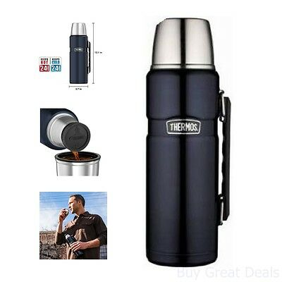 Thermos Stainless King Bottle 40-OZ Beverage Coffee Tumbler Jar Travel Hot Cold