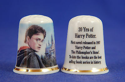 Harry Potter 20yrs Since 1st Novel Released China Thimble B/84