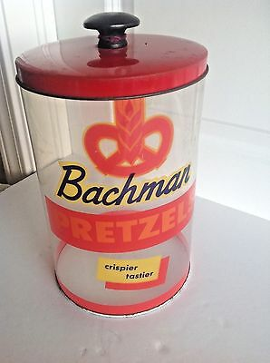 Bachman Pretzels Candy Store Advertising Pretzel Rods Cannister