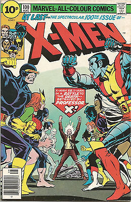 Uncanny X-Men #100. Vol1. Marvel Aug 1976. Old/New Team Classic Cover. FN
