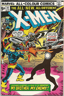 Uncanny X-Men #97. Vol1. Marvel Feb 1976. 1st Appearance Lilandra. Havok. FN/FN+