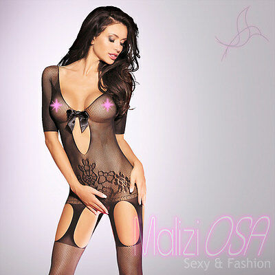 Bodystocking Catsuit Lingerie Intimo Donna Hot ReggiCalze BODY PIZZO Tutina