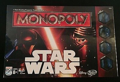 NEW Sealed Star Wars The Force Awakens Edition Monopoly Board Game Disney Hasbro