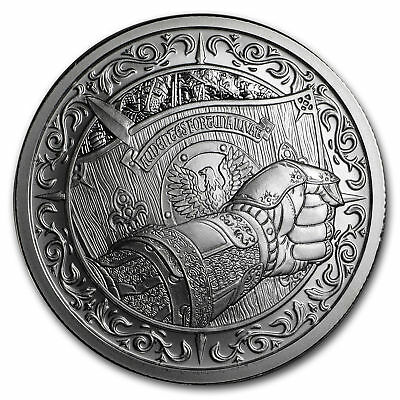Destiny Knight - The Shield 2 oz .999 Silver BU Round USA Made Coin IN-STOCK!!