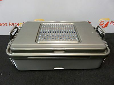 "Genesis V. Mueller CD2-5B 5"" Sterilization Container Case Dissector Storage"
