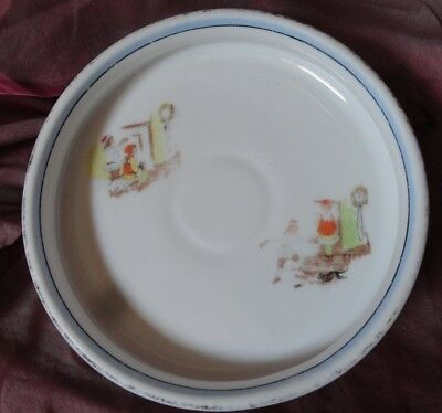 Vintage Noritake Child's Feeding DISH BOWL Nursery Rhyme Hickory Dickory Dock