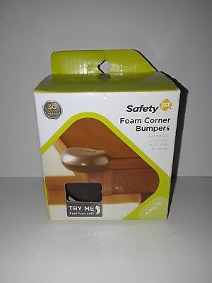 Safety 1st 4pack Foam Corner Bumpers Baby Proofing Safety  Corner Cushions Black