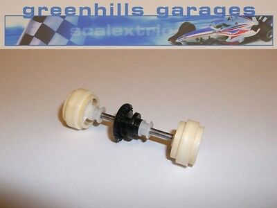 Greenhills Scalextric Ford Escort Cosworth Rear Axle & Wheels White Used – P2794