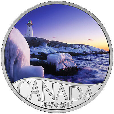 2017 $10 Fine Silver Coin Celebrating Canada's 150Th: Lighthouse At Peggy's Cove