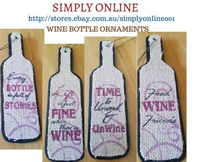 4 Wine Bottle Ornaments  20 CM Long - Best for Party Decoration - Holiday - Gift