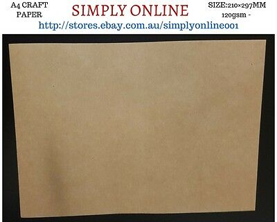 5 Sheet A4 Kraft Paper - 120 Gsm - Printer Compatible  Craft work - 210 × 297 mm