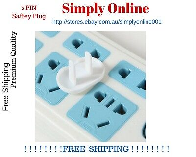 BULK 20 x Electric Outlet Point Plug Cover Main Power Socket Baby Kid Safe